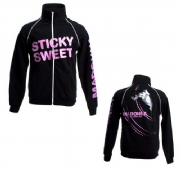 STICKY & SWEET TOUR  - BLACK ZIP TRACK JACKET